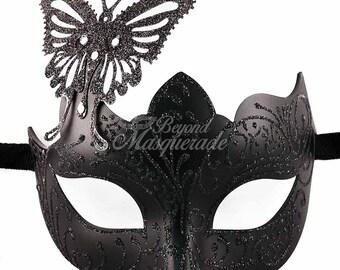 Masquerade Mask, Masquerade Mask, Butterfly Mask, Black Mask, Wedding Masquerade Mask, Mardi Gras Masquerade Mask, Masquerade Ball