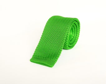 knitted green skinny tie wedding tie green slim tie gift for men groomsmen