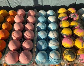 50 MacDaddy's Handmade Artisian UNWRAPPED Bath Bombs