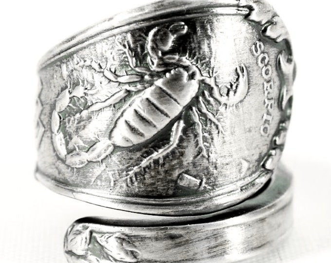 c sign il jewelry scorpio rings horoscope etsy signet zodiac ring astrology