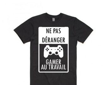 Men tshirt - Do not disturb Gamer at work