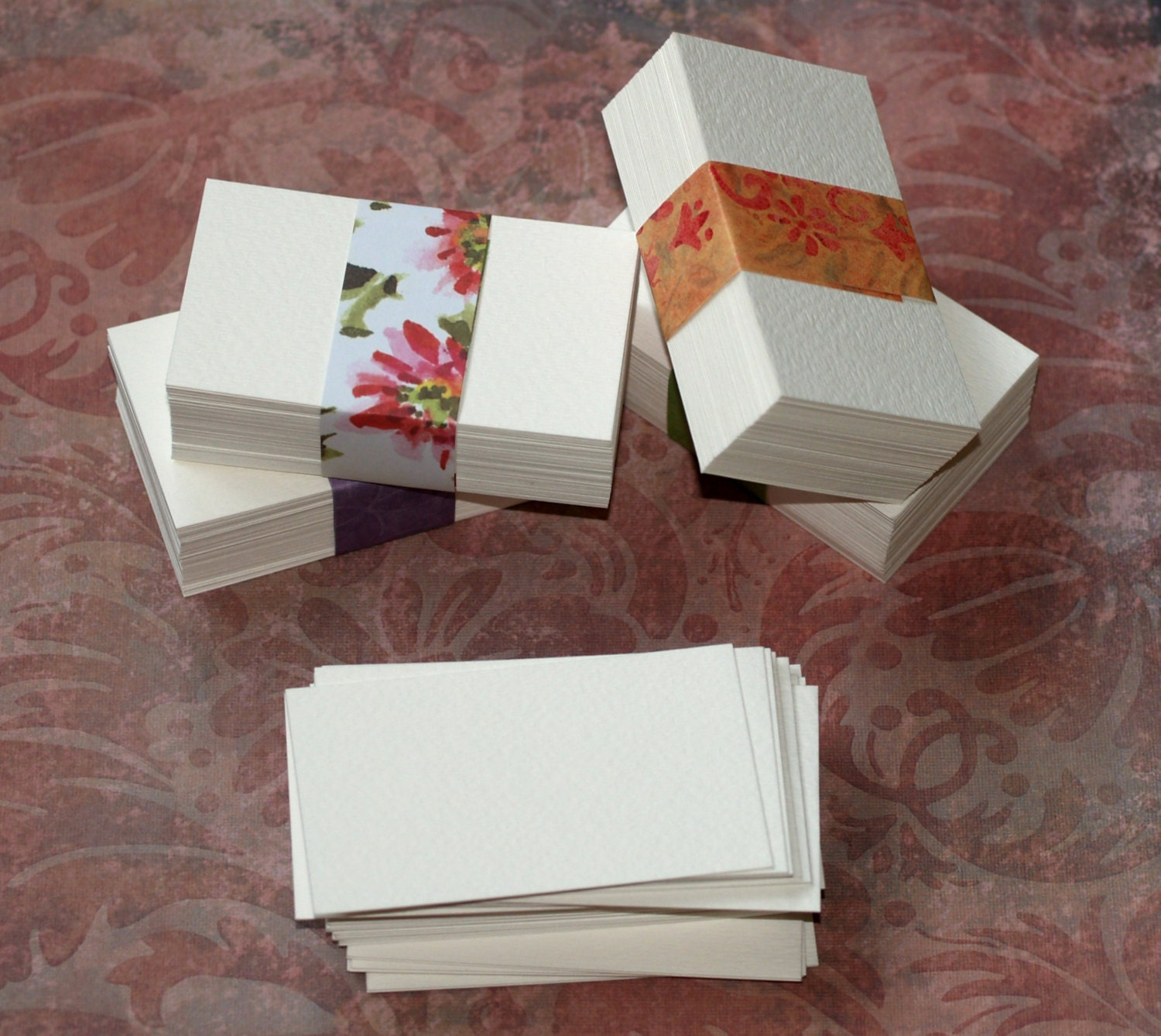 50 Business Card Blanks ... Watercolor Paper Cold Press White