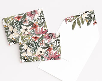 Wildflower Little Notes Set of 12, Floral Mini Note Cards Stationery Set