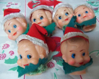 one little vintage elf head