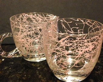 Atomic Age Mid-Century Modern Sugar and Creamer Set in Pink