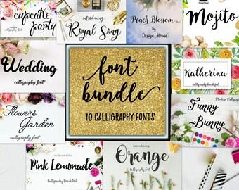 Font fonts swirly font Bundle Calligraphy Font Cricut font Digital download font Handwritten download font calligraphy wedding Christmas