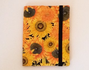 Kindle Paperwhite case, Nook Glowlight Plus cover, all sizes, Sunflower Butterfly hardcover eReader Case