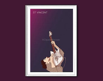St Vincent poster in various sizes