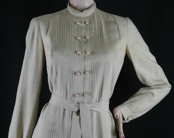 Vintage 70s Silk Shift Dress Size M chest 40 Donald Brooks