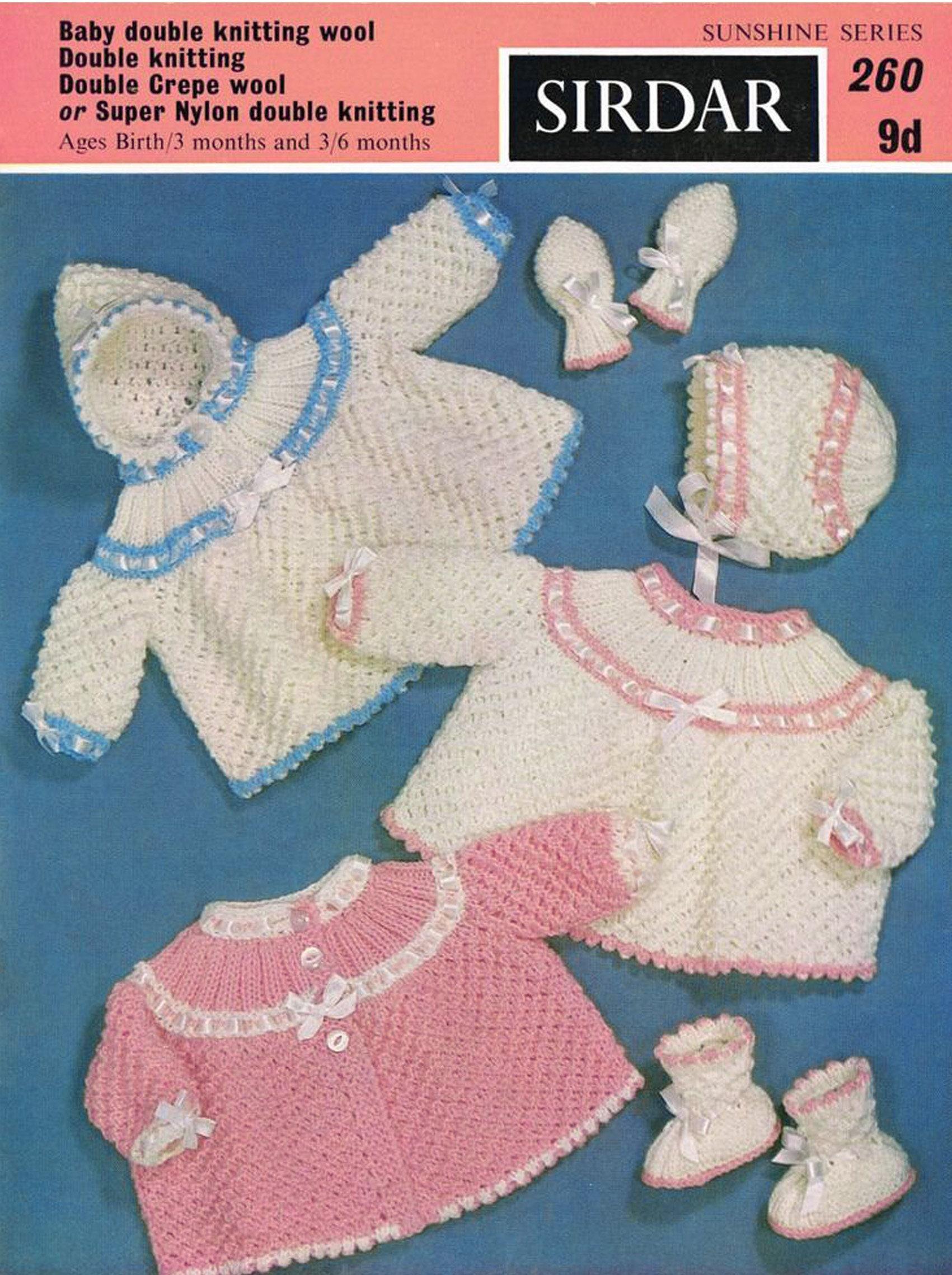 PDF Vintage Baby Knitting Pattern Sirdar 260 Sunshine Series Angel ...