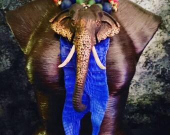 Elephant Crocodile Exotic Tribal Statement Pendant KATROX African Tibetan Statement Necklace OOAK Art to Wear Haute Couture Runway Catwalk