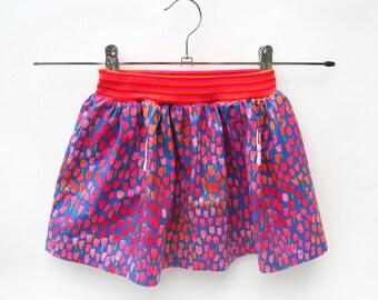 Summer skirt, Kinderrokje, designer rok, Michael Miller, verstopt konijntje.