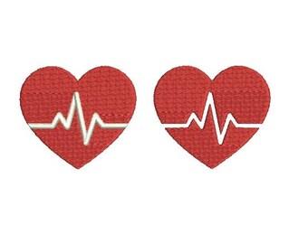 29 Sizes Heart Beat HeartBeat Nurse Embroidery Fill Mini Design Machine Instant Download Digital File EN2207F1F1A