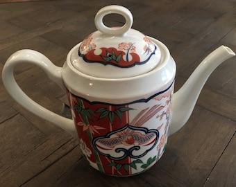 Vintage Georges Briard Heirloom Teapot Imari Style Fine China Full Size