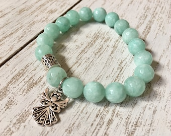 Mint Jade Beaded Bracelet