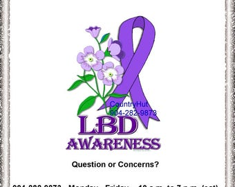 T-Shirt - LEWY BODY DEMENTIA Awareness - Forget Me Not -
