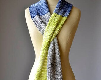 Easy Color Block Knit Scarf Knitting Kit Colorway 1