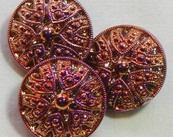 Small Drama Czech Glass Buttons (3)
