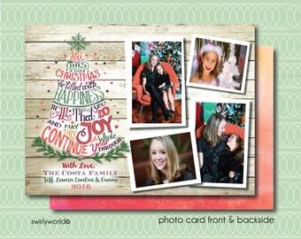 Retro Christmas Photo Cards, Retro Holiday Photo Cards, Unique Christmas Photo Cards, Holiday Photo Collages, Christmas Photocards HOL574