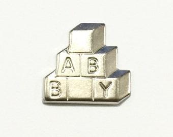 Metal Baby Blocks Embellishment (12 pcs)