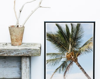Palm Print, Minimalist Wall decor, Palm Tree Photo, Printable Art, Tropical Wall Art, Wall Decor, Instant download, Large wall Print
