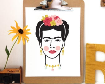Frida Kahlo - Art Print -5x7, 8x10, 11x14