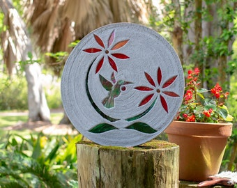 Colorful Hummingbird Stepping Stone #827