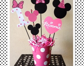 Minnie Mouse Birthday Decoration Centerpieces - Baby Shower