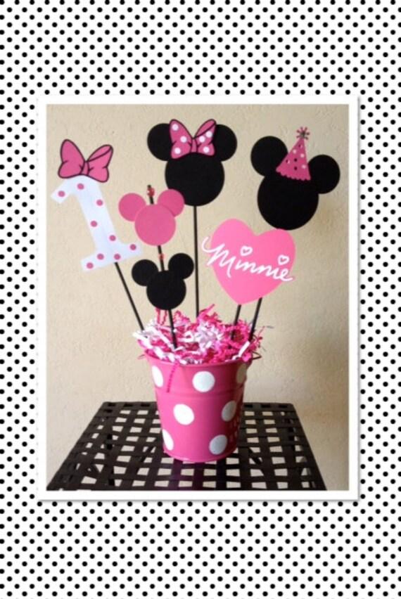 Minnie mouse cumplea os decoraci n centros de mesa baby - Decoracion de minnie mouse para cumpleanos ...
