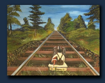 A Big World out there  original acrylic art by Zhane