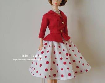vintage dress and jacket for Vintage Barbie by SL Doll Fashion