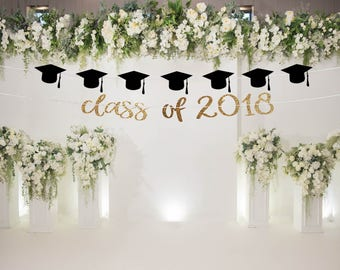 Class of 2018 banner, graduation party decorations, high school graduation party ideas graduation backdrop graduation party decorations 2018