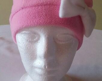 Womens Fleece pink hat