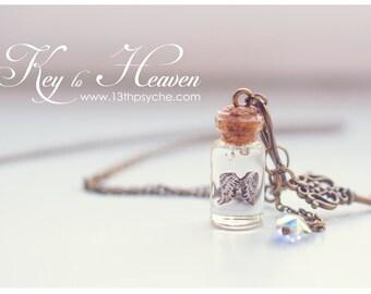 Glass Bottle Pendants Pearls bottle necklace glass bottle pendant vial necklace angel wings necklace glass vial necklace wings bottle pendant vial miniature bottle necklace audiocablefo