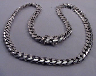"950 SOLID SILVER Cuban Curb Link Chain ~ 28.5"" length ~ 150 Grams ~"