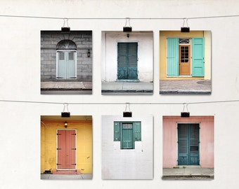 6 Blank Greeting Cards, Note Cards, NOLA Doors Notecards, New Orleans