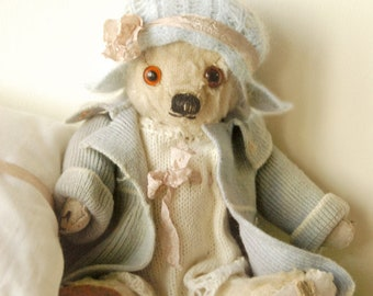 """SOLD KATHY - Antique  Teddy bear  - English Merrythought 12"""" c 1930's -Kissy face"""