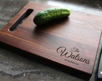 Personalized Cutting Board - Engraved Cutting Board, Custom Cutting Board, Wedding Gift, Housewarming Gift, Anniversary Gift, Engagement #71