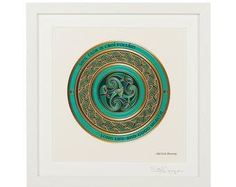 Celtic Art, Irish Blessing, Irish Wall Art, Irish Gifts, Book of Kells, Slainte, Celtic Blessing, Gaelic Blessing, Celtic Friendship Knot