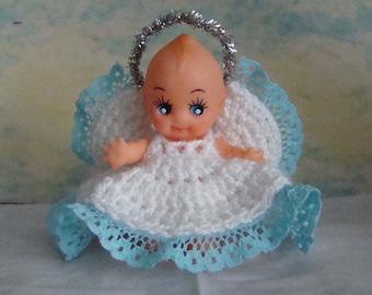 Vinyl Kewpie Cupie Doll Angel Fairy Ornament