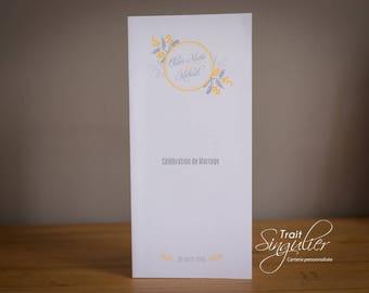 Mass wedding - yellow accordion book