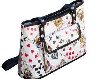 Handbag made of playing cards, FREE SHIPPING, Eco friendly bag, Recycled bag, vegan tote bag, upcycling by milo, naveh milo