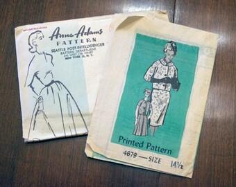 Designer Suit Pattern Mail order Anne Adams Uncut 1960's