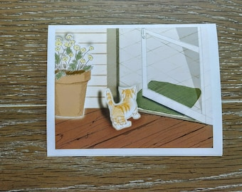 "O'Lily Art ""Welcoming a New Friend"" Featuring Phoebe Blank Note Cards w/Envelopes (5 ct.)"