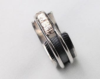 Oxydized grey silver 925, simple ring silver sterling, oxidized sterling silver