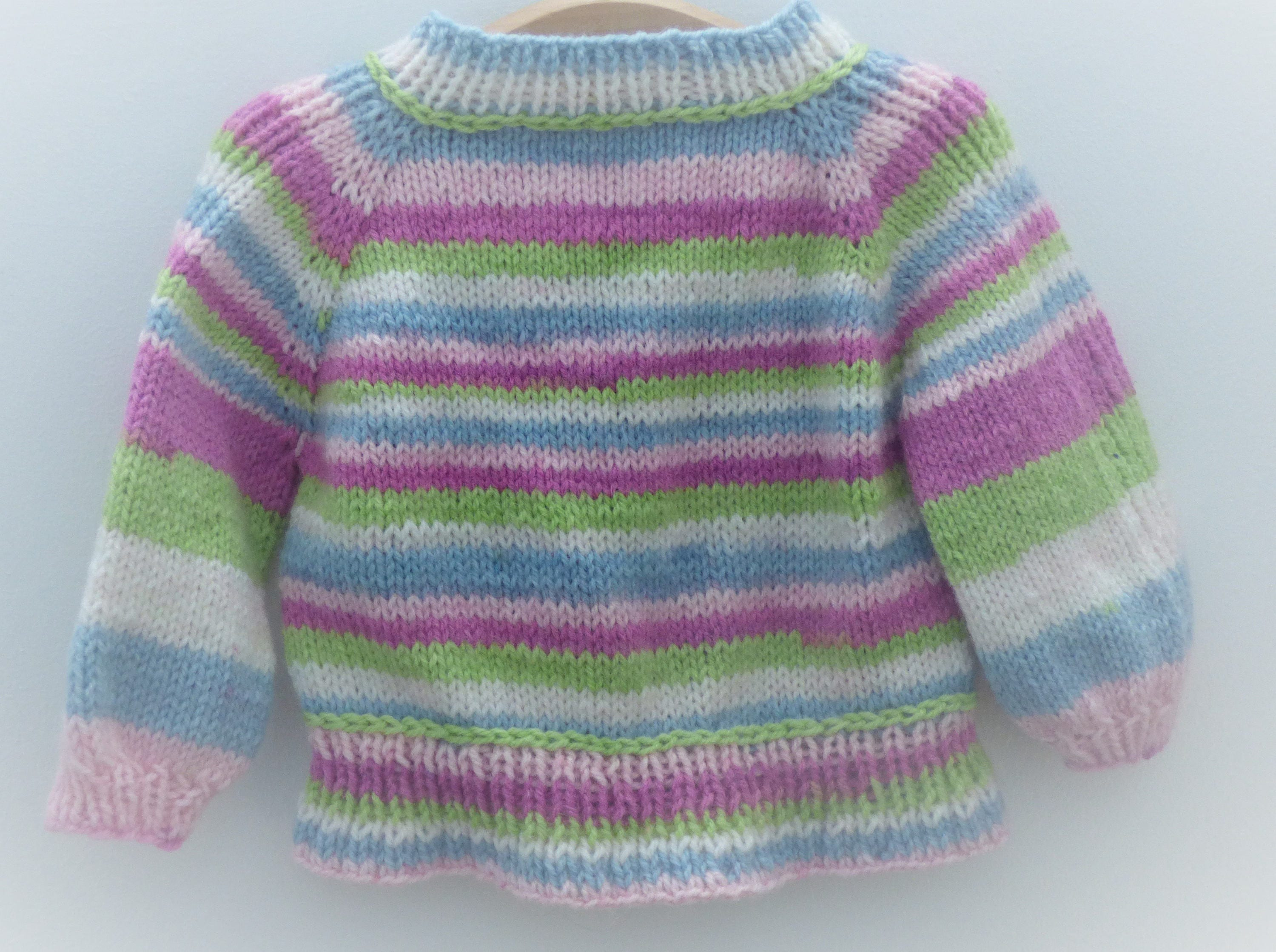 Knitting Pattern Cardigan Jacket Sweater Top Down Seamless for Baby ...
