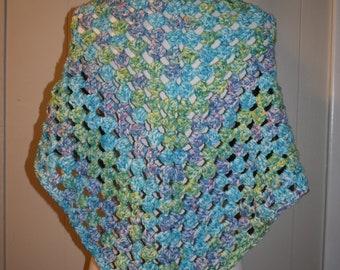 Crochet Warm Granny Shawl