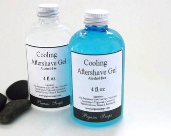 Cooling Aftershave Gel  for Men 4 oz All Natural Mens Gifts