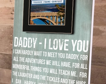 Father's Day Gift, Daddy To Be Gift, New Parent Gift, Baby Shower Gift, Fathers Day Gift, Gifts for New Dads, Personalized Picture Frame