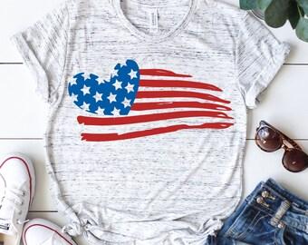 Distressed american flag svg, Heart svg, 4th of july svg, Kids svg, Usa flag svg, Patriotic svg, Fourth of july svg, Svg, DXF, Png, Eps